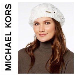 Michael Kors Cream Beret